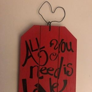Accents - Hanging Wood Love Sign
